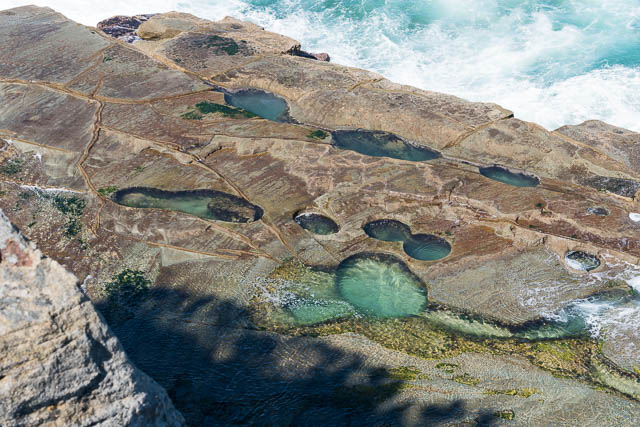 Looking down at the Figure of Eight Pool